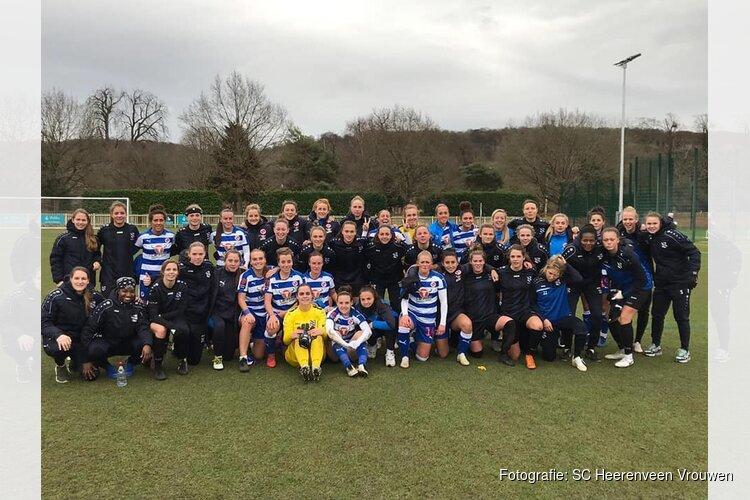 Vrouwen SC Heerenveen verliezen nipt van Reading in oefenduel