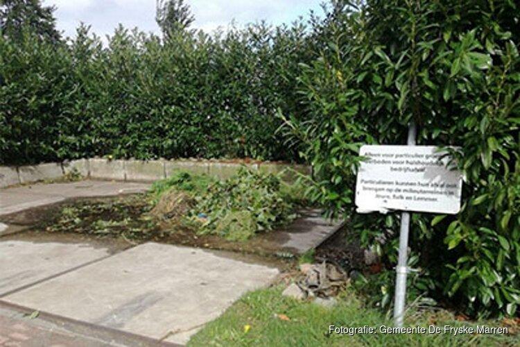 Groenstations Echten, Oosterzee en Bantega sluiten door dumpen van afval